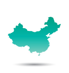 china map flat on white background vector image