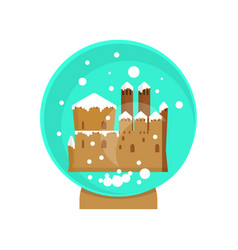 christmas magic ball vector image