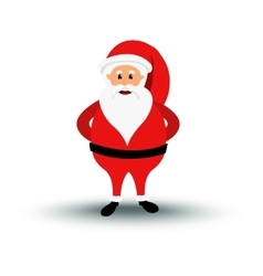 Christmas smiling Santa Claus character is vector image