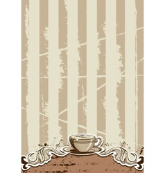 Coffee Cup Menu vector image