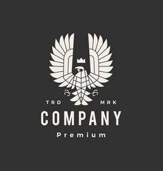 condor bird prey hipster vintage logo icon vector image
