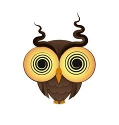 crazy owl logo vector image