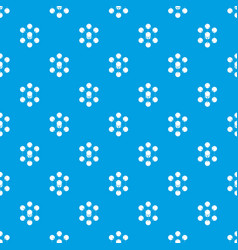 cube molecule pattern seamless blue vector image