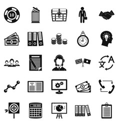 Customers of the bank icons set simple style vector