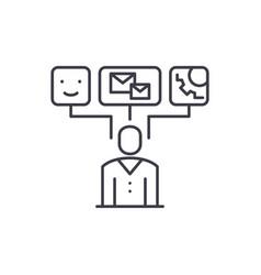 data visualization line icon concept data vector image
