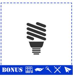 eco energy lamp icon flat vector image