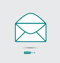 envelope mail icon flat design style direct vector image