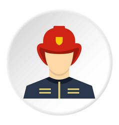 Fireman icon circle vector