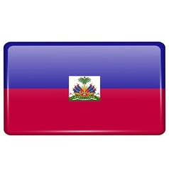 Flags Haiti in the form of a magnet on vector image
