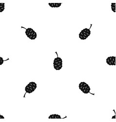fruit of mulberry pattern seamless black vector image