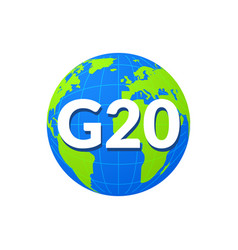 G20 world globe infographic map icon summit vector