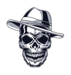 Gangster skull head vector