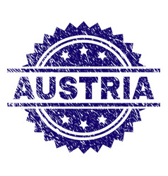 Grunge textured austria stamp seal vector