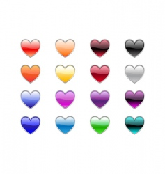 heart shape buttons vector image