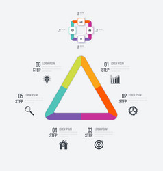 infographics template 3 options vector image