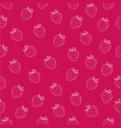 Juicy seamless pattern with white strawberries vector