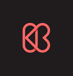 K heart love logo vector