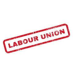 Labour Union Text Rubber Stamp vector