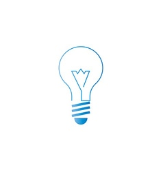 Lamp icon alternative energy innovation idea logo vector image