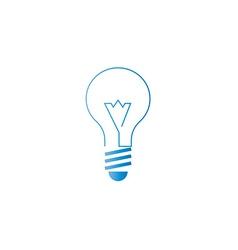 Lamp icon alternative energy innovation idea logo vector