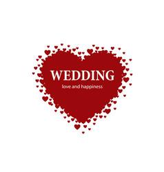 logo wedding vector image