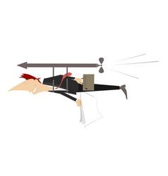 Man flies ahead concept isolated vector