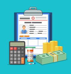 Medical insurance services concept vector