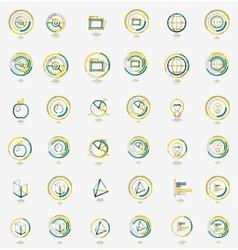 Minimal thin line design web icon set stamps vector image