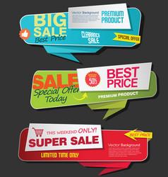 modern super sale flat banner collection 1 vector image