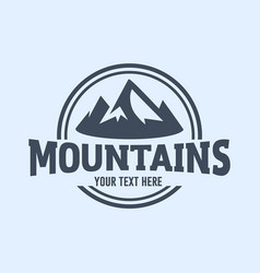 mountain logo concept vector image