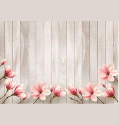 nature spring background with beautiful magnolia vector image