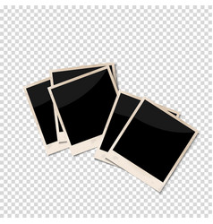 old photo frames isolated on transparent vector image