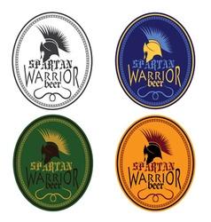 Old Vintage Antiques Spartan warrior beer bottle vector image