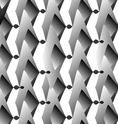 Op Art Hexagon in white and grey colors vector image