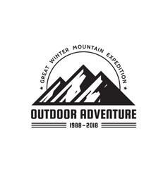 outdoor adventure - logo template concept vector image