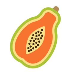 Papaya flat icon fruit and tropical vector
