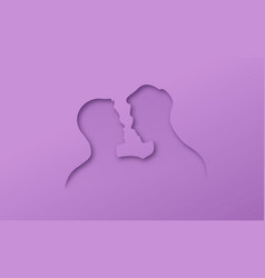 papercut gay men homosexual couple in love vector image