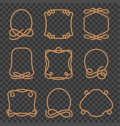 rope border set vector image