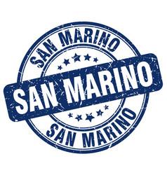 San marino blue grunge round vintage rubber stamp vector