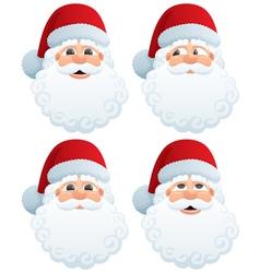 Santas head vector