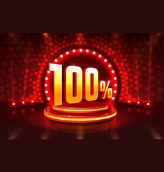 Scene golden 100 sale off text banner event store vector
