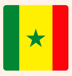 senegal square flag button social media vector image