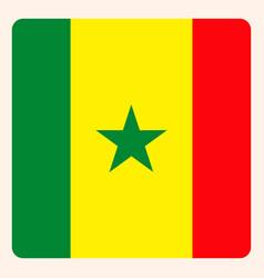 senegal square flag button social media vector image