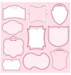 set of pink vector frames vector image vector image