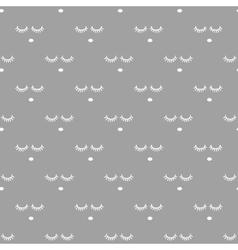 Sleepy face gray seamless pattern vector image