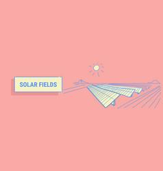 solar energy panel fields renewable station vector image