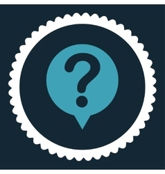Status flat blue and white colors round stamp icon vector