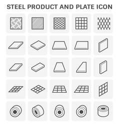 steel plate icon vector image