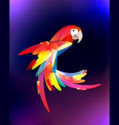 stylized of a parrot with a vector image