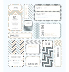 Tags for Design or scrapbook vector